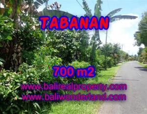 DIJUAL TANAH DI BALI, MURAH DI TABANAN RP 700.000 / M2 – TJTB090