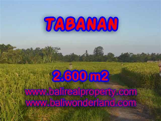 INVESTASI PROPERTI DI BALI - JUAL TANAH DI TABANAN CUMA RP 420.000 / M2