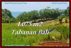 JUAL TANAH MURAH di TABANAN BALI 1,075 m2 View Laut dan Gunung