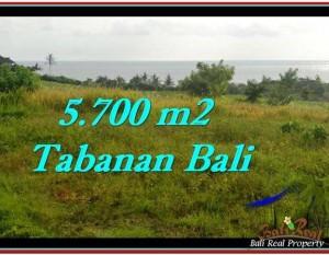 JUAL TANAH di TABANAN 57 Are View sawah, laut dan gunung