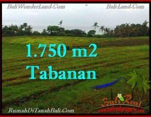 JUAL TANAH di TABANAN BALI 1,750 m2  View Laut, Sawah dan Gunung