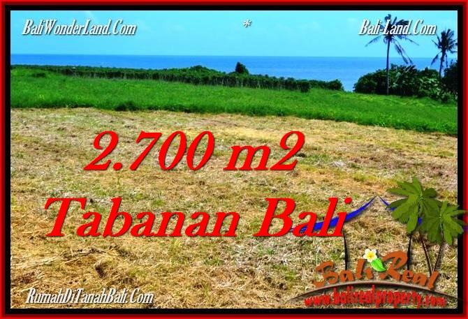TANAH MURAH JUAL di TABANAN BALI 2,700 m2 View Laut, Gunung dan Sawah
