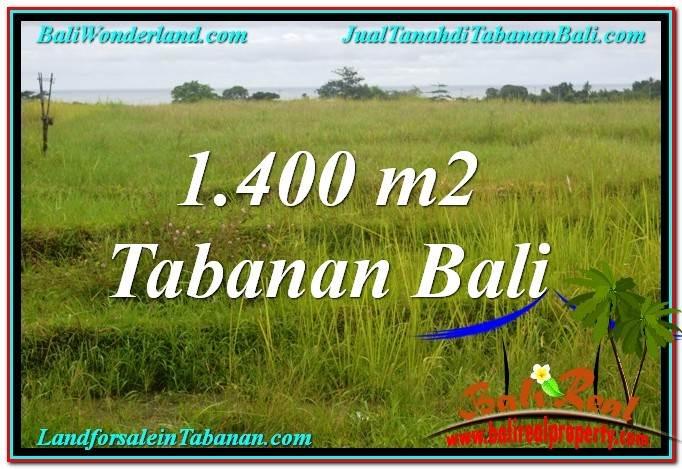 JUAL MURAH TANAH di TABANAN BALI 14 Are View Laut, Gunung dan sawah