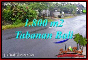 JUAL MURAH TANAH di TABANAN BALI 1,800 m2  View sawah