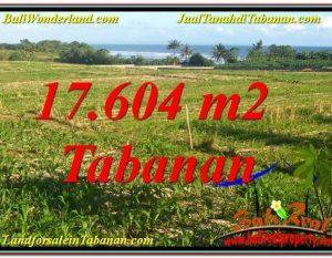 TANAH MURAH  di TABANAN BALI DIJUAL 17,604 m2  View Laut, Gunung dan sawah