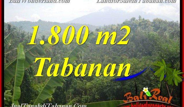 JUAL TANAH DI TABANAN 1,800 m2 View Gunung